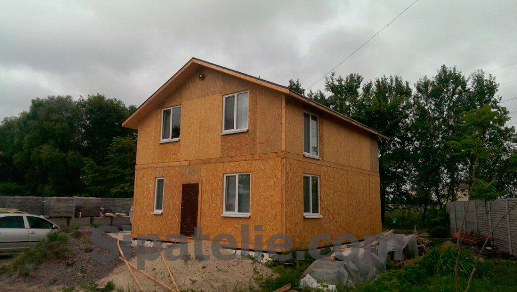Строительство дома по канадской технологии в Бортничах - фото 1