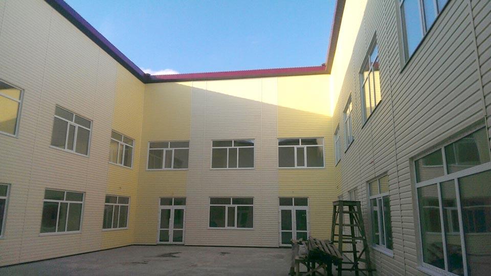 Внешняя отделка школы в с. Белогородка