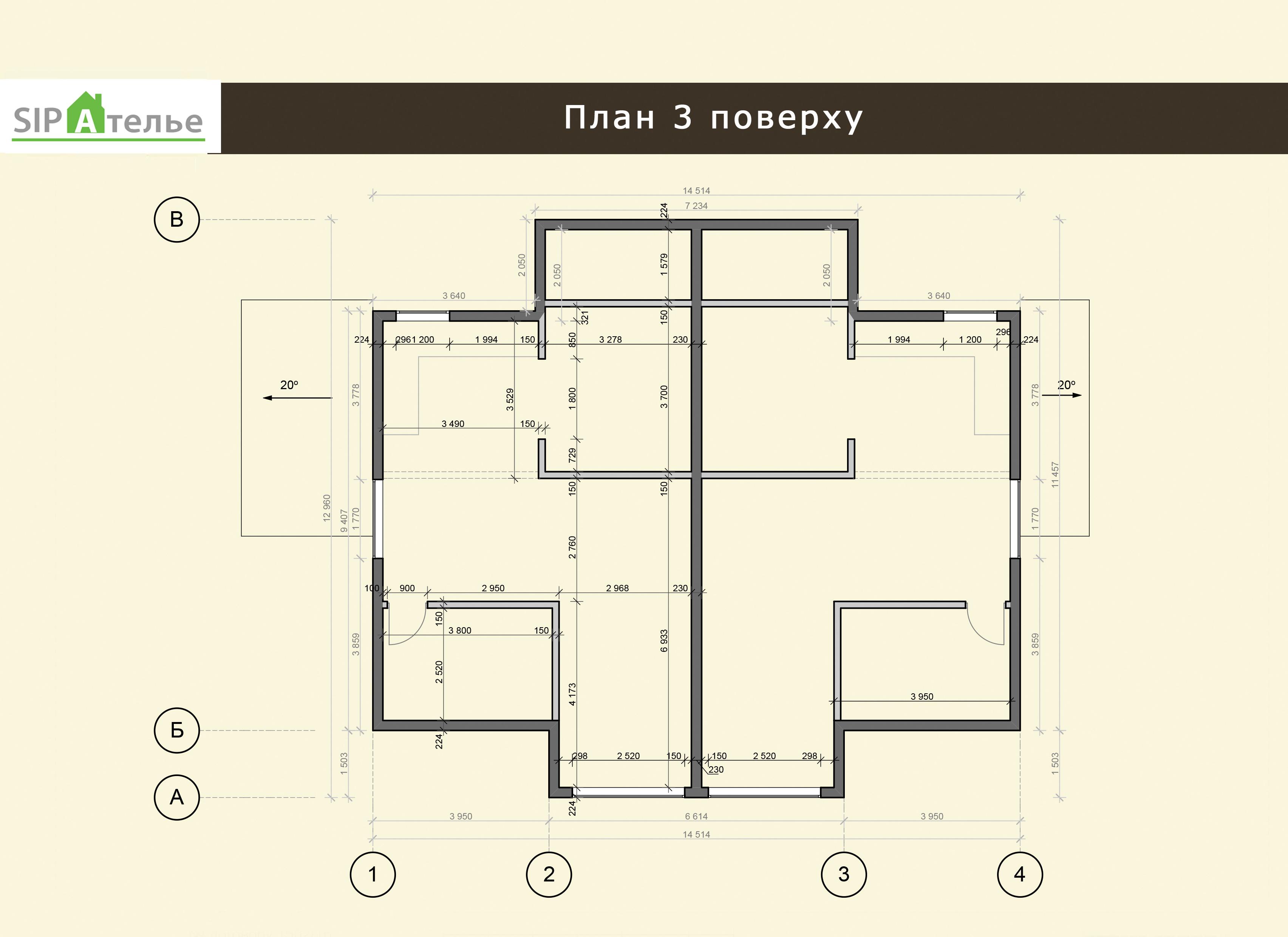 Планировка таунхауса Новрей из сип панелей 558,0 М2