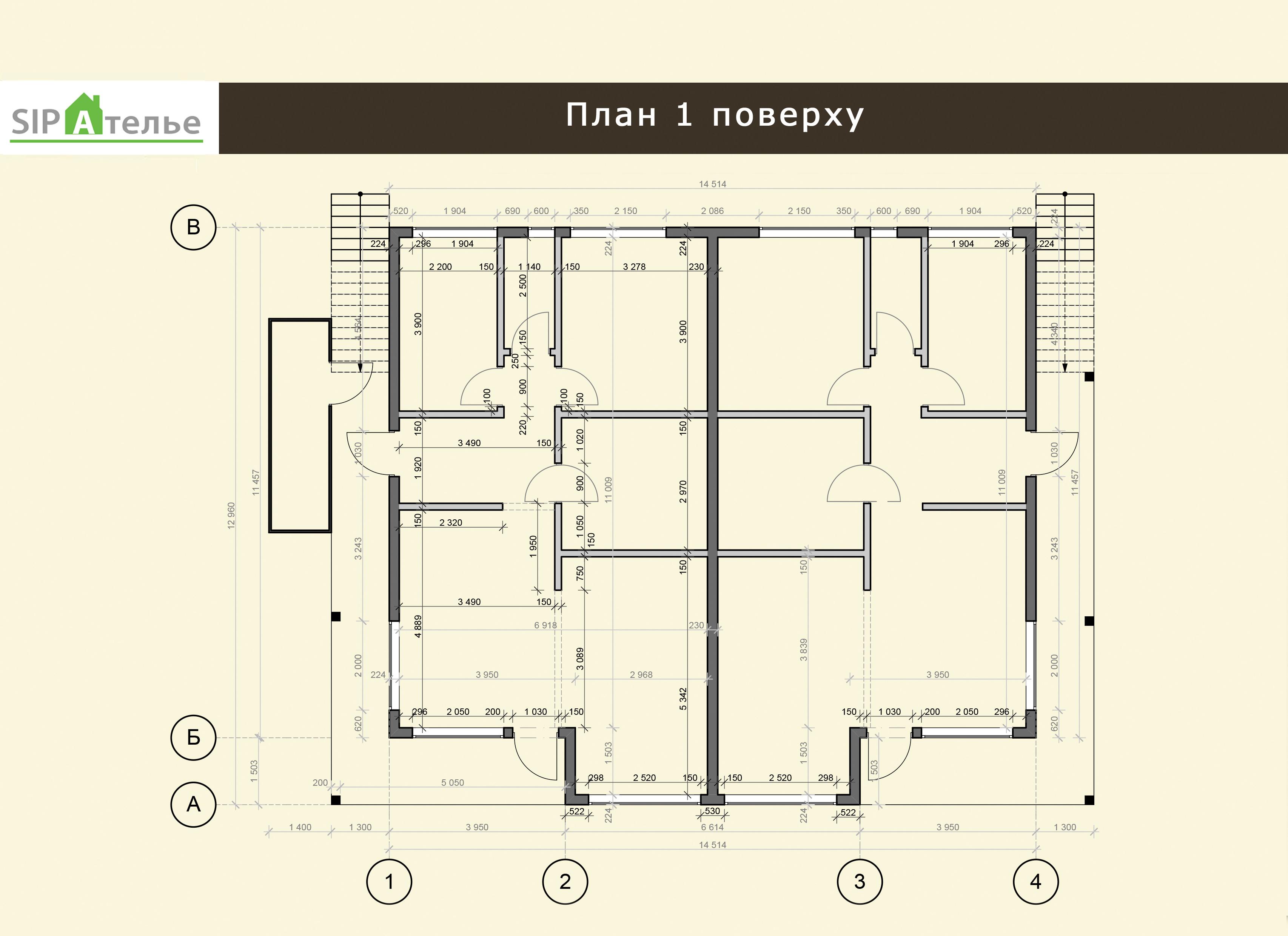 Планировка таунхауса из сип панелей - Новрей